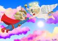 SupermanAmerica x Britannia Angel - hetalia-usuk fan art