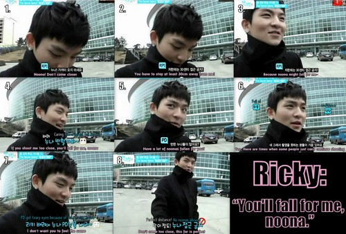 "Teen 最佳, 返回页首 Ricky: ""You'll fall for me, noona."""