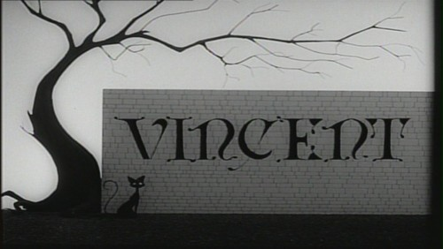 Tim burton kertas dinding probably with a sign titled Tim Burton's 'Vincent'