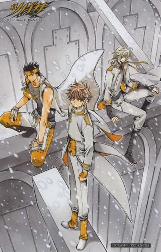 Tsubasa: Reservoir Chronicles karatasi la kupamba ukuta containing anime titled Tsubasa RESERVoir CHRoNiCLE