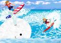 US&UK Surfing - hetalia-usuk fan art