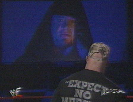 Undertaker appears on the TitanTron talks about Stone Cold, 1999