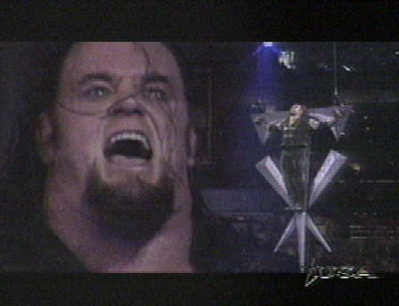 Undertaker achtergrond probably containing a televisie receiver and a high definition televisie called Undertaker vs Stone Cold: WWF Championship Promo