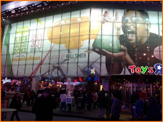 Will Smith on a Billboard at New York