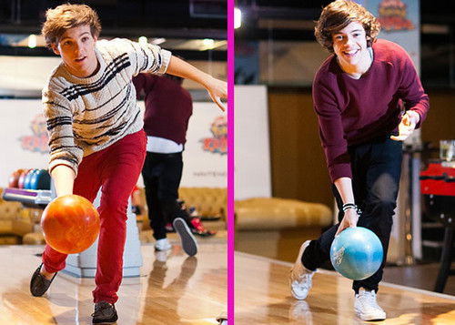 bowling with louis and harry