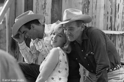 clark gable ,marilyn monroe and montgomery clift
