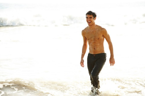 Darren Criss wallpaper possibly containing swimming trunks, a hunk, and skin entitled darren