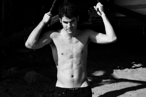 Darren Criss karatasi la kupamba ukuta with a hunk, a six pack, and skin entitled darren