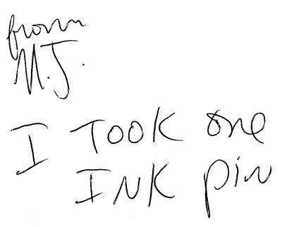 ink pin