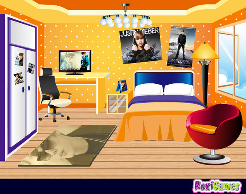 justin bieber fan room game!!!!!!!!!!!
