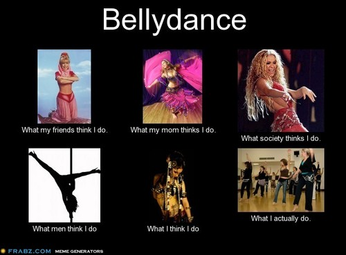 meme I created about bellydance ment to be funny