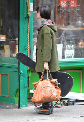 "Carey Mulligan wallpaper titled on the set of ""Inside Llewyn Davis"" in New York City, NY on March 2, 2012"