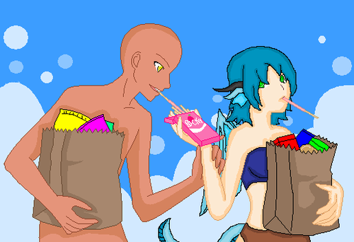 open collab: shareing her pocky