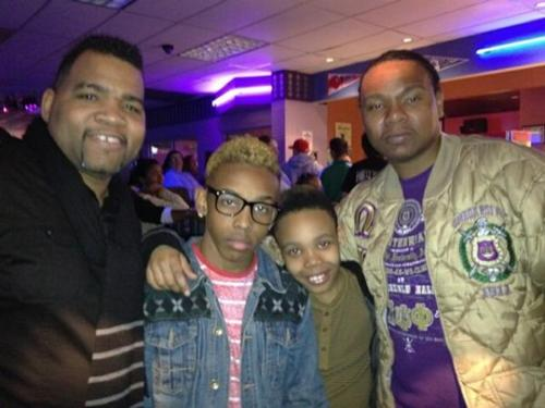 Prodigy (Mindless Behavior) wallpaper containing a green beret called their great uncle, Prodigy, Jojo, and their dad