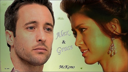 Steve and Kono Hintergrund with a portrait entitled Alex & Grace - Hintergrund