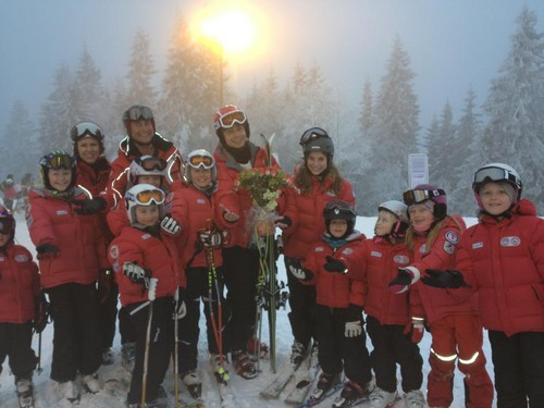 Alexander with the children at Trines Ski School!