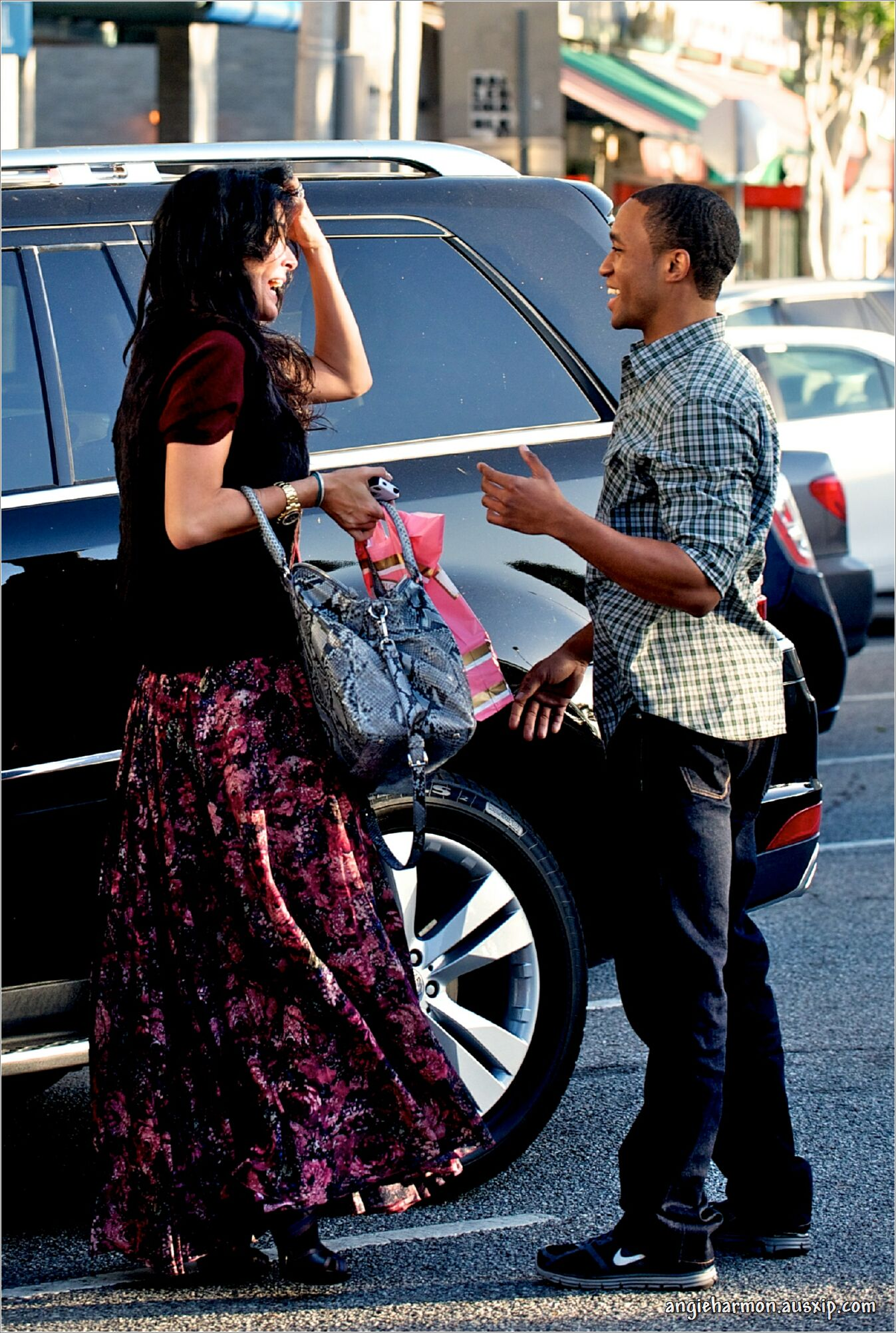 Angie Harmon & Lee Thompson Young out and about in L.A.