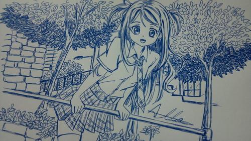 日本动漫 girl - fanart