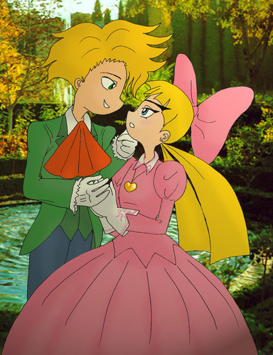 Animated Couples 바탕화면 called Arnold X Helga