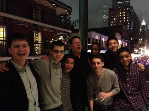 Asa and the Ender's Game boys at a zoo in new orleans!