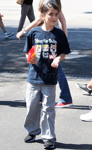 Blanket Jackson at the Commons Movie in Calabasas