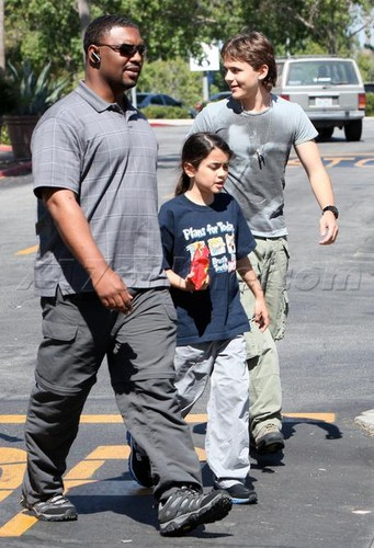 Blanket Jackson with his brother Prince Jackson