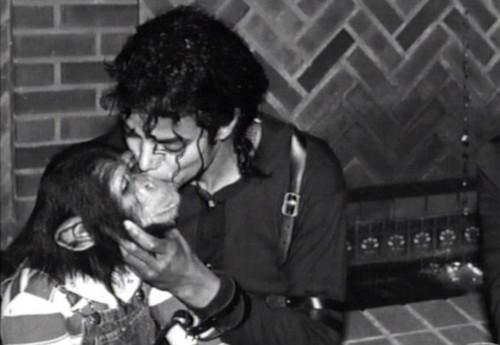 Bubbles and Michael Jackson