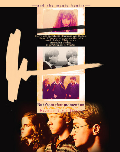 But from that moment on Hermione became their friend