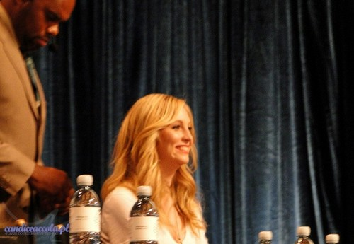 Candice on the TVD panel at PaleyFest 2012.