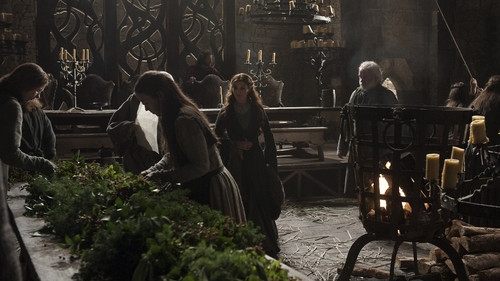 Catelyn and servants
