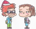 Chuckie and Lil at Christmastime