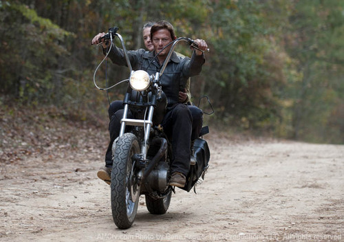 Daryl Dixon Wallpaper Possibly With A Trail Bike Motorcyclist And Motorcycle Cop