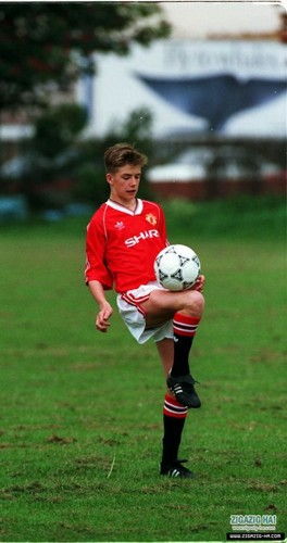 David Beckham with 15 years old