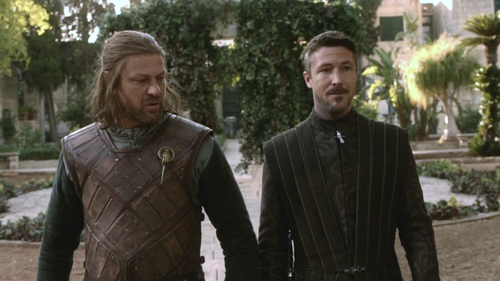 Eddard Stark and Petyr Baelish