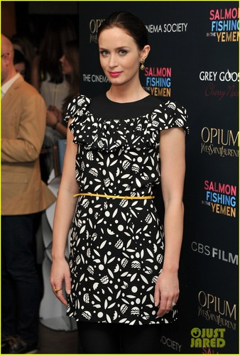 Emily Blunt: Cinema Society 'Salmon Fishing' Screening