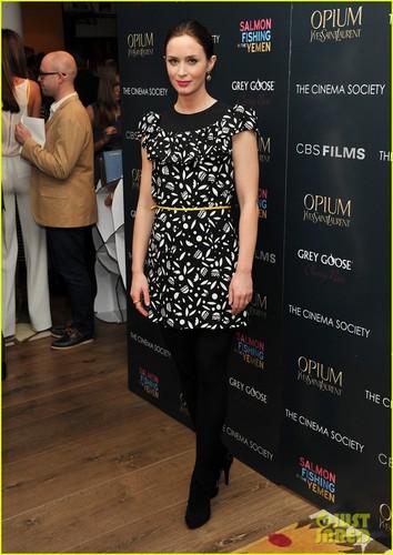 Emily Blunt: Cinema Society 'Salmon Fishing' Screening
