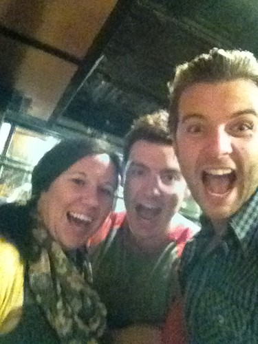 Emmet in Kansas City with Keith and Angela (CT's production assistant)