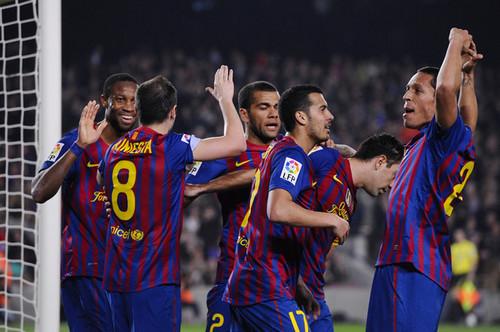 FC Barcelona (3) v Sporting Gijon (1) - La Liga