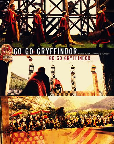Gryffindor karatasi la kupamba ukuta called GO GO GRYFFINDOR