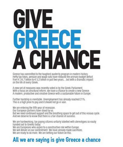 Give Greece chance.