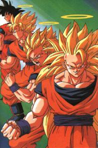 Goku super sayin forms!