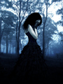 Gothic sad girl - gothic photo