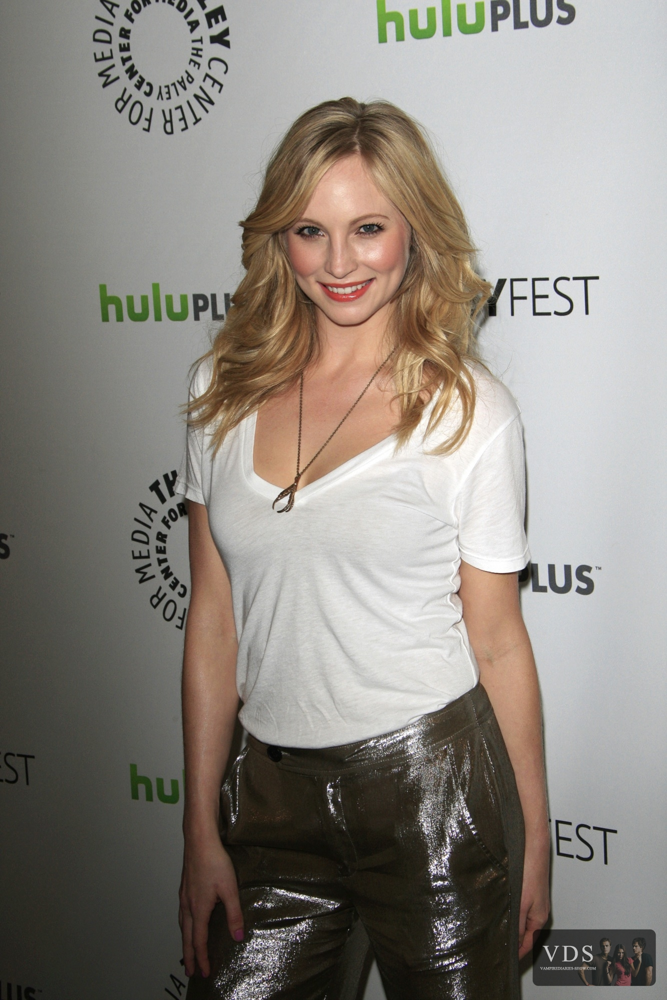 """HQ pics of Candice at PaleyFest 2012 [Presenting """"The Vampire Diaries""""]."""