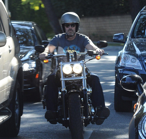 HUGH LAURIE- RIDING -SUNSET BOULEVARD March 2012