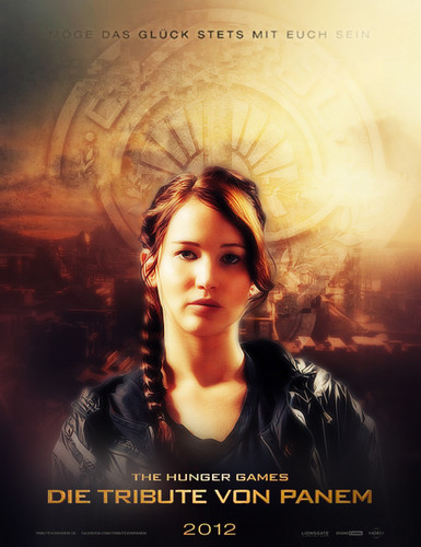 Hunger Games Katniss German Movie Poster