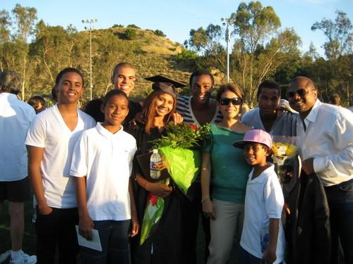 Jaafar Jackson's sister Genevieve Jackson's Graduation Jaafar with the Jackson Family