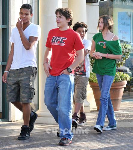 Jaafar, Prince, Jermajesty and Paris Jackson at the Filme in Calabasas