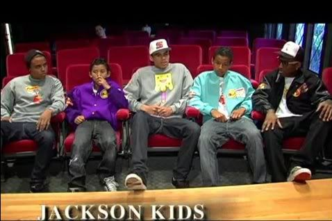 Jaafar with his brothers Donte Jackson, Jermajesty Jackson, Randy Jackson Jr, Jaafar and Vann