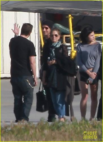 Jennifer Aniston & Justin Theroux: Back In LA!