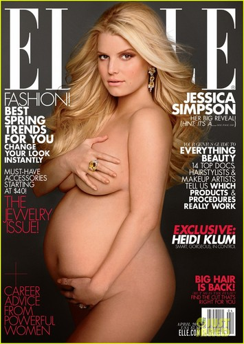 Jessica Simpson: Nude &amp; Pregnant on &#39;Elle&#39; Cover - jessica-simpson Photo